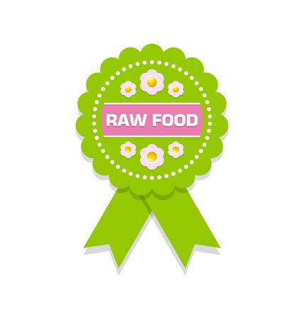 raw food: Green raw food rosette on white background