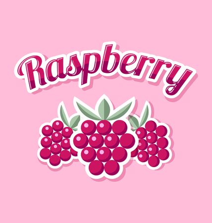 raspberry pink: Retro raspberry with title on pink background