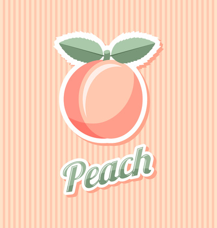 peach: Retro peach with title on striped background