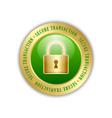 secure icon: Secure transaction padlock icon suitable for custom design Illustration