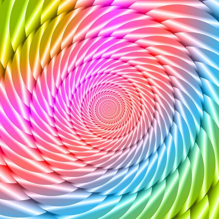 twisted: Colorful twisted spiral convolution object on background