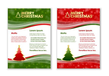 lustrous: Merry Christmas document templates with golden tree