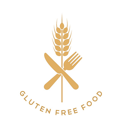 gluten: Gluten free sign isolated on white background Illustration