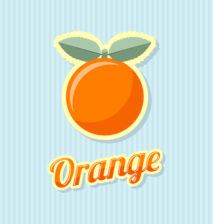 rinds: Retro orange with title on striped background