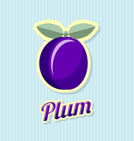 skin color: Retro plum with title on striped background Illustration