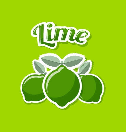 pale green: Retro lime with title on pale green background