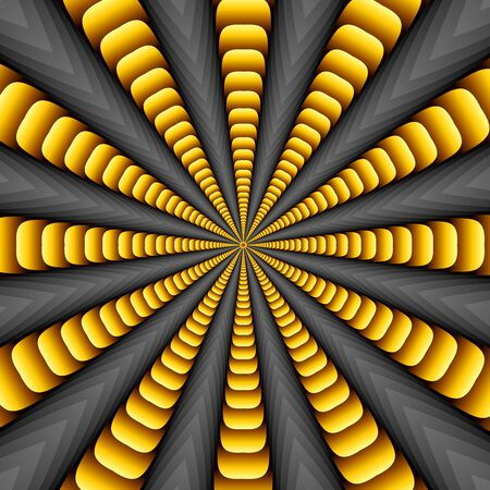 to revolve: Yellow twisted and ribbed abstract flower background