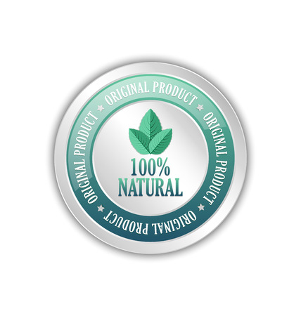 Original natural product badge or icon isolated on white background