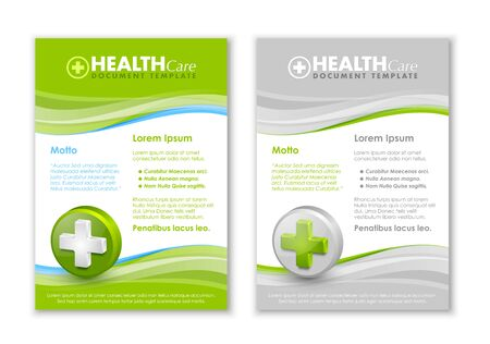 transfuse: Health care document templates with three dimensional glossy cross icon