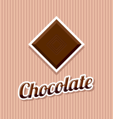dainty: Retro chocolate with title on striped background