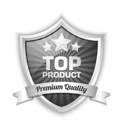 platinum: Top product shield placed on white background Illustration