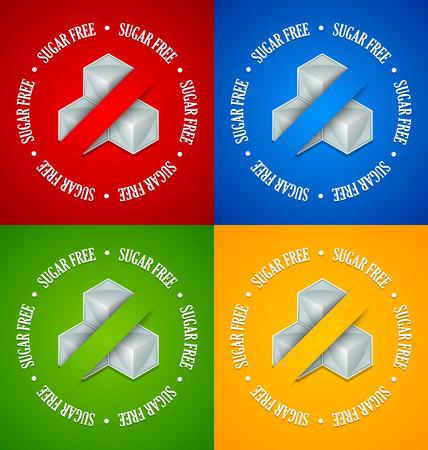 sweetener: Set of sugar free symbols placed on background