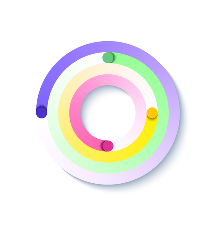 Abstract circular element suitable for custom web design Illustration