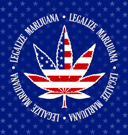 legalize: American legalize marijuana hemp (Cannabis sativa or Cannabis indica) leaf on black background