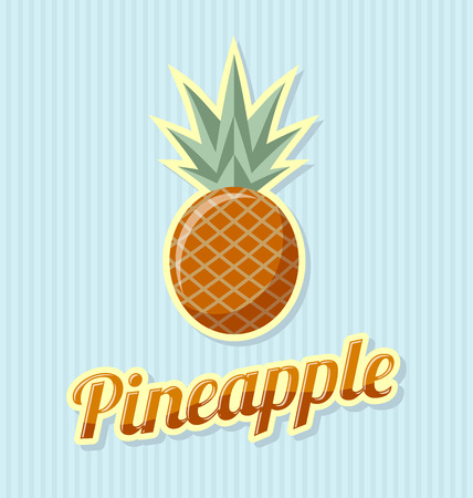 plant to drink: Retro pineapple with title on striped background