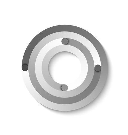 Élément circulaire abstrait adapté à la conception de sites Web personnalisés Vecteurs
