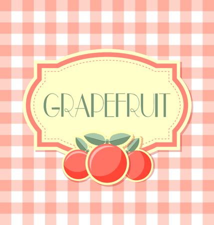 Grapefruit label in retro style