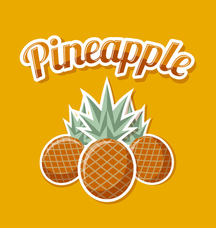 Retro pineapple with title vector Illustration