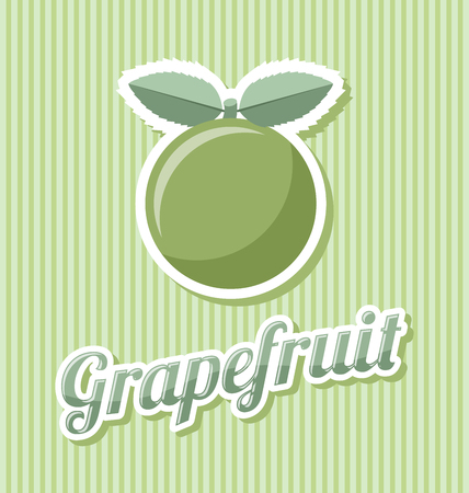 Retro grapefruit with title on striped background Иллюстрация