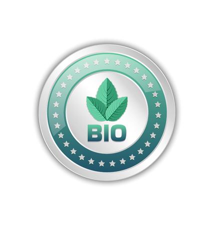 Bio original product badge icon isolated on white background