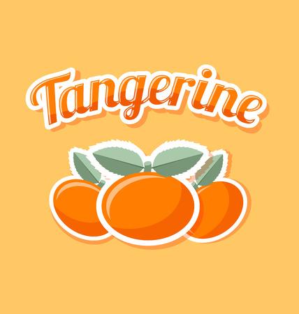 Retro tangerine with title on pale orange background