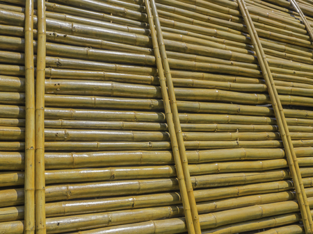 The bamboo wall or partition photo