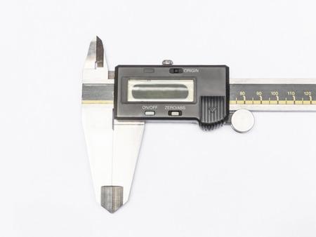 trammel: digital electronic caliper closeup isolated on white background
