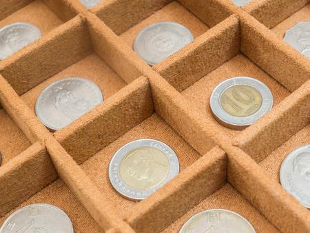 コイン コレクション 写真素材