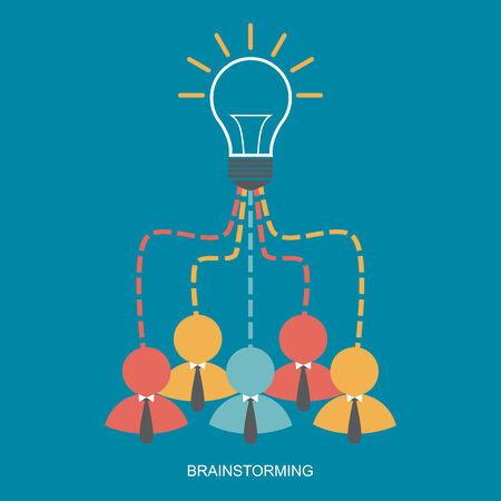 Brainstorm and Teamwork business man concept,Vector Vector