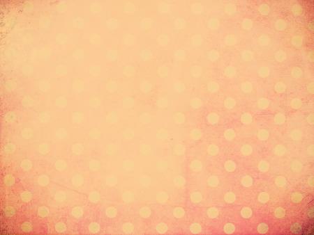 Polka dot wallpaper with vintage filter effect for retro grunge background