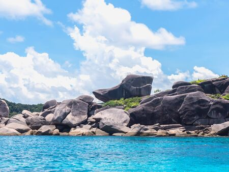 phangnga: The symbol rock of  Donald Duck Bay at Similan islands, Thailand