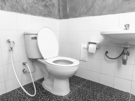 bathroom interior: classic simple bathroom interior in Thailand