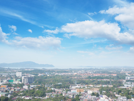 phuket province: Aerial view at viewpoint of cityscape Phuket province, Thailand. Stock Photo