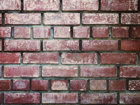 Close up vintage brick wall texture and background.