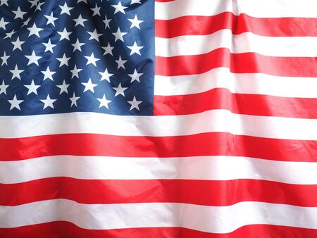 Closeup of American flag for 4th of July holiday background. Happy flag day Standard-Bild