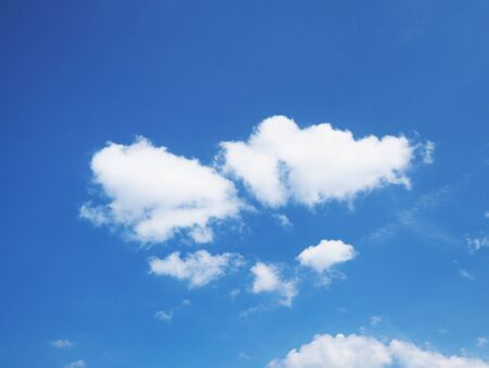Blue sky and white cloud for natural background