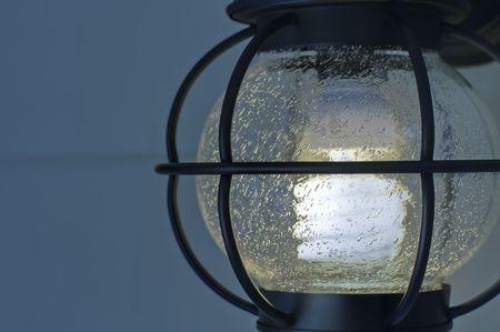 electric fixture: Apparecchio singolo esterno compatto fluorescente luce elettrica.  Archivio Fotografico