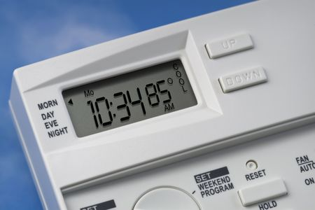 Note: 85 degrees is the energy-saving recommended cooling setting for summer when you are not at home. Variations for heating and cooling when home and not home may be available. photo