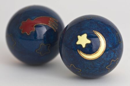wholistic: Originatiing from Boading, China, these balls are associated with mysticism and alternative medicine. Stock Photo