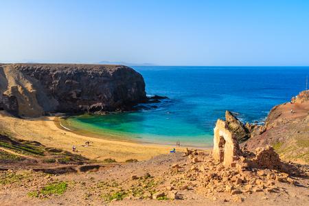 View of Papagayo beach, Lanzarote, Canary Islands, Spain