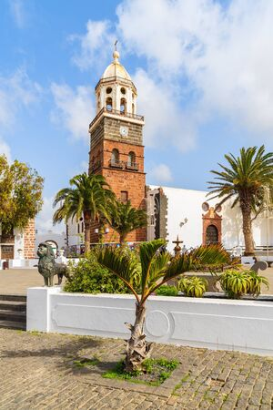 guadalupe island: Famous church Nuestra Senora de Guadalupe in Teguise town, Lanzarote island, Canary Islands, Spain