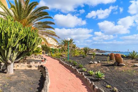 lanzarote: Walking alley along ocean in Playa Blanca village, Lanzarote, Canary Islands, Spain Stock Photo
