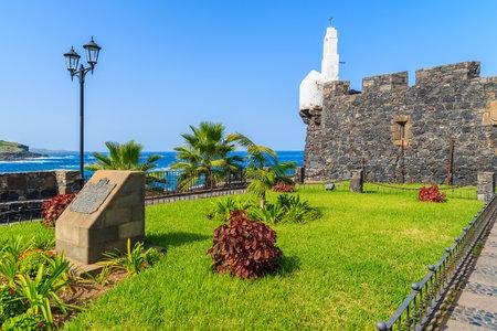 Green garden in castle San Miguel de Garachico, Tenerife, Canary Islands, Spain