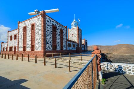 seascapes: Lighthouse building on Punta Entellada, Fuerteventura, Canary Islands, Spain