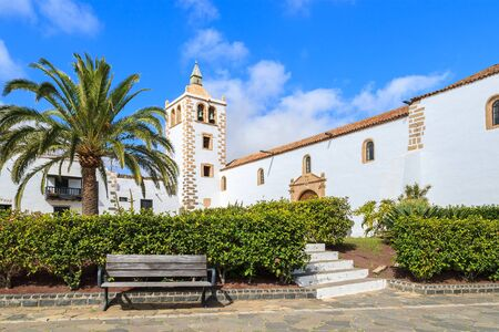 View of beautiful cathedral Santa Maria de Betancuria on Fuerteventura island, Spain