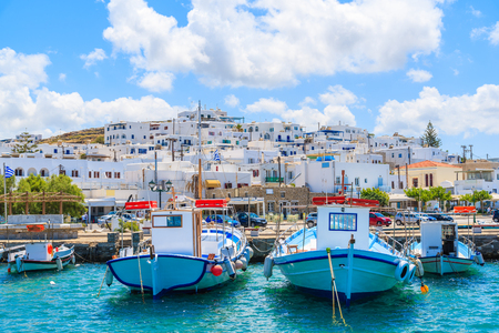 Fishing boats in Naoussa port, Paros island, Greece