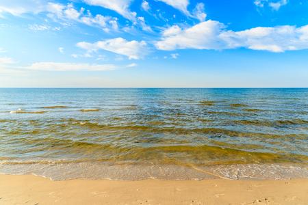 View of beautiful sea and beach in Debki village, Baltic Sea, Poland Stock Photo