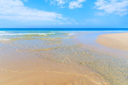 Widok na piękną plażę i morze, wyspa Sylt, Niemcy
