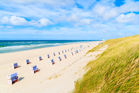View of beautiful beach and sand dune near List village, Sylt island, Germany