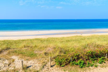 View of beautiful beach and sea, Sylt island, Germany